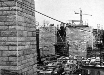 baustelle der autobahnbrücke almtal, 1941