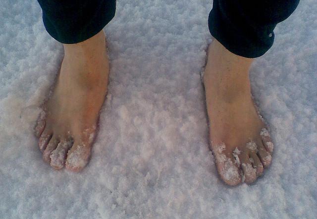 kalte Füße im Schnee