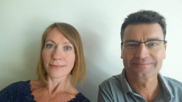 Soziologe Jörg Flecker und Interviewerin Tereza Arrieta