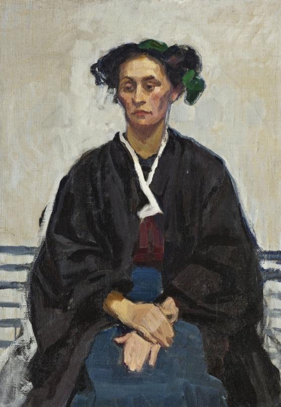 Broncia Koller-Pinell, Selbstbildnis, um 1905, 100 x 70 cm, Inv-Nr. KS-10906, © Landessammlungen NÖ